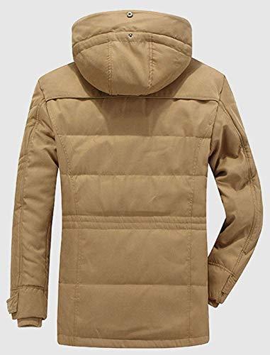 Thickened Fur Men Fur Winter Winter Hood Winter Coat Parka Khaki Apparel Winter with Parka Jacket with Mens Huixin Warm Jacket Coat 8wvqvf