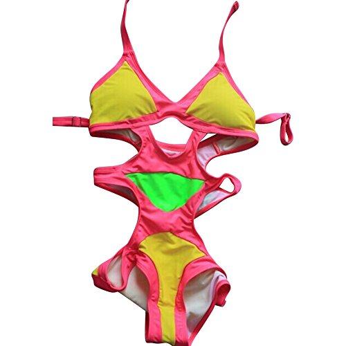 Pinkyee - Traje de una pieza - para mujer Rosa