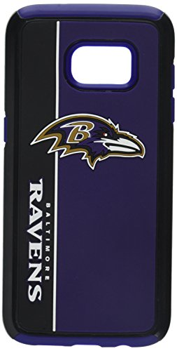 Forever Collectibles Samsung Galaxy S7 Edge Dual Hybrid BOLD Case – NFL Baltimore Ravens