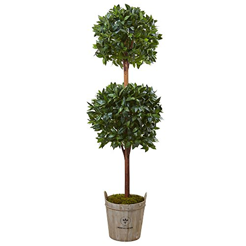 Nearly Natural 6' Double Ball Topiary Artificial Tree, Green by Nearly Natural