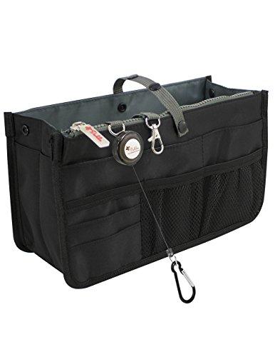 Dahlia Patented STURDY Handbag Purse Organizer Insert - 21 Components Black
