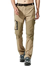 Mr.Stream Men's Walking Windproof Breathable Camping Quick Drying Outdoor Convertible Hiking Pants