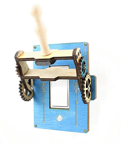 Green Tree Jewelry Steampunk Decora Rocker Throw Switch Blue Wood Light Switch Plate Cover by Green Tree Jewelry (Image #1)