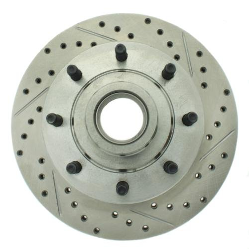 Rotor Front Slotted Stoptech (StopTech 227.65026L Select Sport Drilled and Slotted Brake Rotor; Front Left)