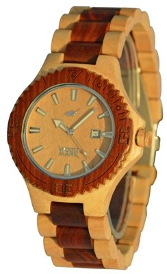 Wood Mark ZS-W023B Mens Potomac Maple wood Watch & Red Sandalwood Watch