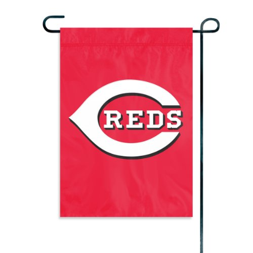 Cincinnati Reds Official MLB 15 inch Garden Flag + Stand by Party Animal