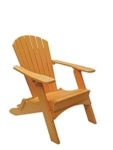 Perfect Choice Folding Adirondack Chair, Tangerine