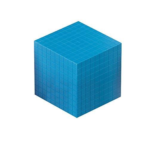 hand2mind Blue, Plastic, Base Ten Cube, Math Manipulative Block ()