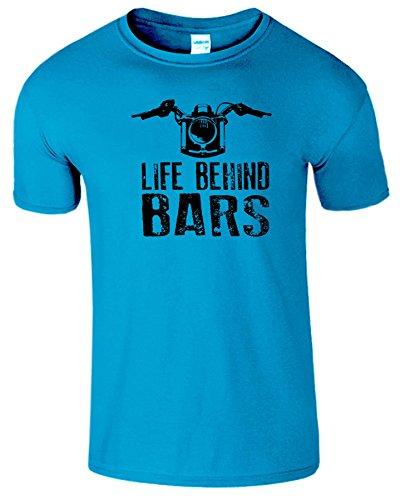 """SNS Online Antik Saphir / Schwarz Design - XXL - Brustumfang : 50"""" - 52"""" - Life Behind Bars Frauen Der Männer Damen Unisex T Shirt"""