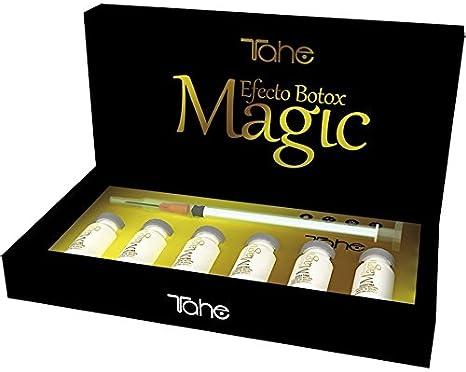 Tahe Magic Botox Effect Rellenador Capilar Brillo, Textura y Tratamiento para todo Tipo de Cabellos, 6 x 10 ml