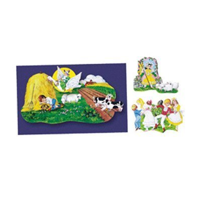 Nursery Rhymes Flannelboard Set - Nursery Rhymes set 3- Felt Figures for Flannel Board 4 stories-Little Boy Blue, Jack Horner, Bo Peep & Mother Goose by Little Folk Visuals