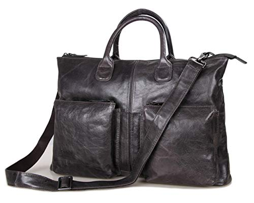 SAIERLONG Men Classic Retro Cowhide Genuine Leather Business ()