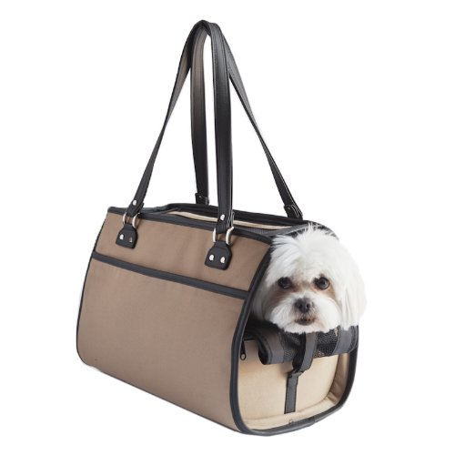 Petote Payton Dog Carrier Bag, Khaki
