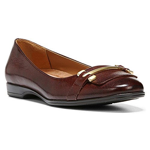 Naturalizer Mujeres Joyce Flat Bridal Brown Leather