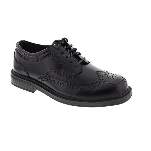 Deer Stags Mens Tribune-Smith Wing-Tip Comfort Oxford Shoe Black