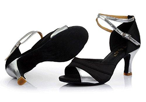 De Zapatos Baile De Salón Fondo Zapatos WYMNAME Sandalia Blando De De Resistant Salón De Latino Baile Mujeres Plata Zapatos Wear Baile Baile La fHEnxqwaU
