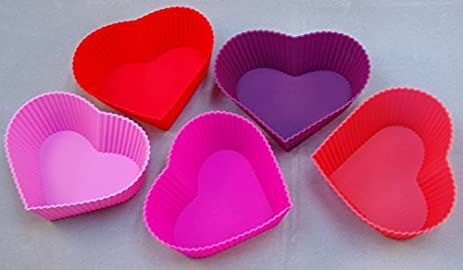 Amazon.com: 12 Pcs Set (In PVC Box) Basic Heart Shape Mold Cake ...