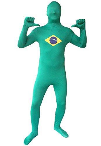 [EDS Costumes Full Body Fun Suit (Brazil Flag Costume)] (Brazil Costume Male)