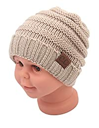 Baby Kid's Beanie Hats Soft Cute Caps Knitted Warm Winter Hats Unisex