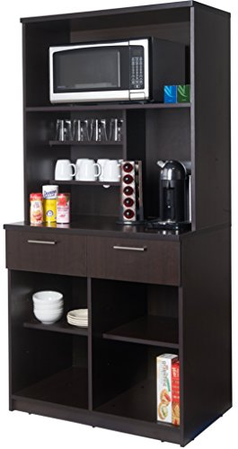 Breaktime Group Break Room Lunch Combo Ready to Install/Ready to Use, Espresso, 2 Piece