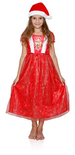 Disney Girls' Fantasy Nightgowns, Princess Dress with a Hat, Size 4