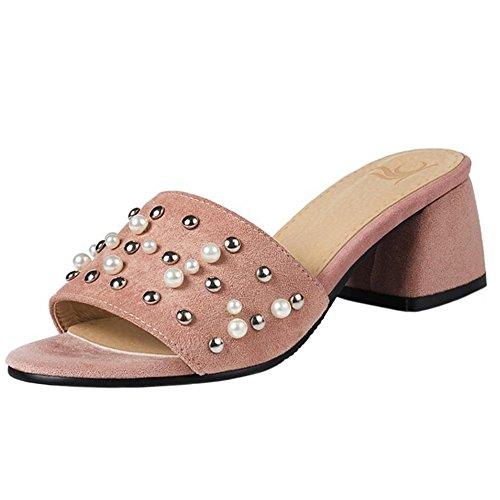 Sandali Rosa Fashion Tacco Spillo Con Block A Coolcept Women pw8qxSaxt