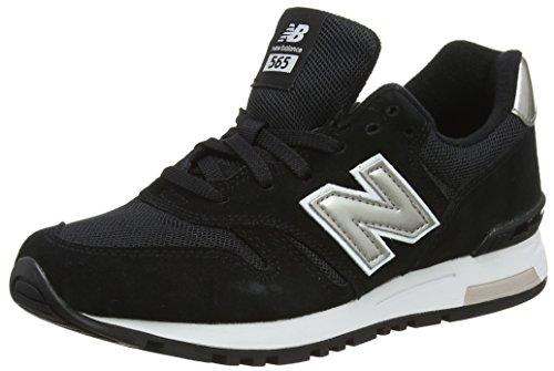 Nuovo Equilibrio Damen Wl565 Sneaker, Schwarz (nero / Oro / Wl565kgw)