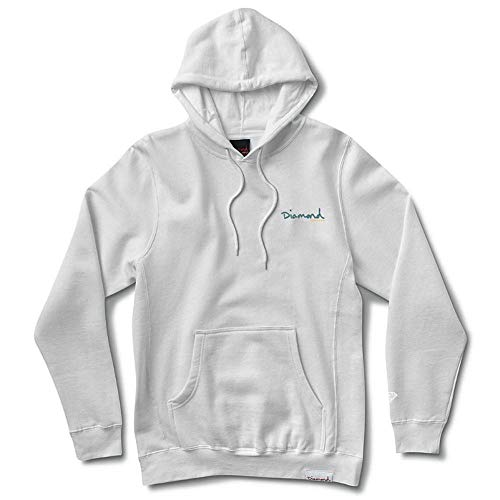 Diamond Supply Co OG Script Hoodie White Blue by Diamond Supply Co
