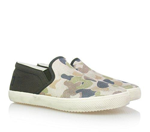 D.A.T.E. - Chaussure sans lacets camouflage , garçons,enfant,hommes