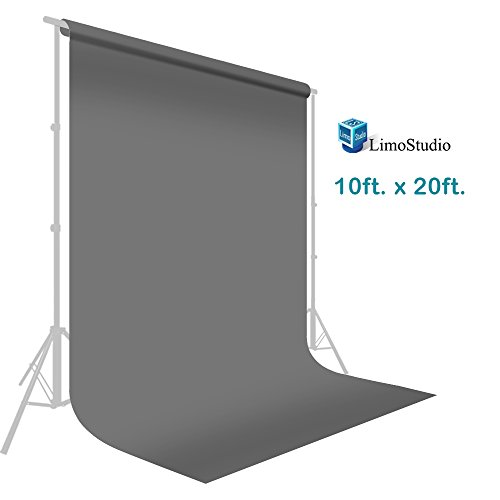 10 ft. x 20 ft. Professional Photography Studio Muslin Backdrop Background Gray Muslin Backdrop Photo Screen, Photo Video Studio, AGG2330 - Studio Muslin