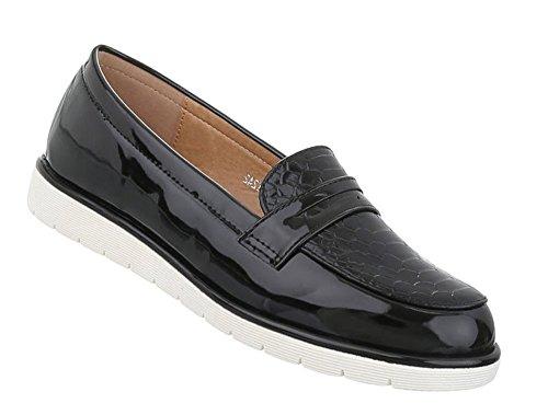 Schuhcity24 Damen Schuhe Halbschuhe Slipper Schwarz