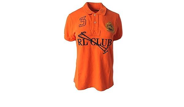 Polo_Ralph Lauren - Polo - para Mujer Naranja Naranja XS: Amazon ...