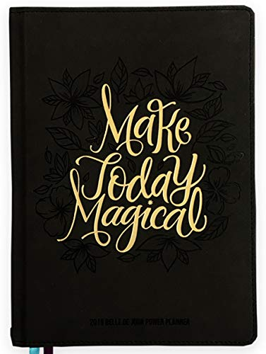 Belle de Jour Power Planner 2019 for Goal and Life - Weekly, Monthly and Yearly Planner - Calendar + Organizer - International Edition - Black & Gold (Leather)