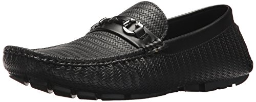 GUESS Men's ADLERS Driving Style Loafer, Black