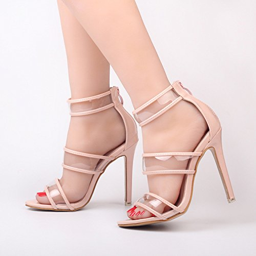 XX&GXM 2017 New Summer Gifts Fish Mouth Transparent High heel Sandals Transparent Mouth Film Sandals,pink,40 Daily Banquet Party... B0731CKVWK Parent a8ba90