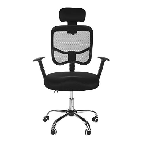 Executive Computer Office Home Task Adjustable Swivel Chair Stool with Arms,Breathable Mesh,Ergonomic Headrest and Lumbar Support(Ship from US!) by Toxz office products (Image #4)