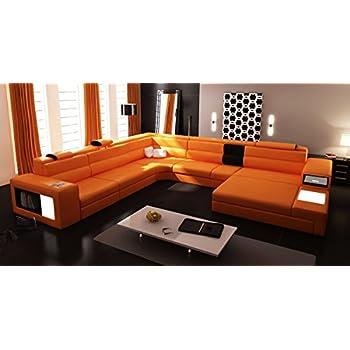 Amazon.com: Divani Casa Polaris - Contemporary Bonded Leather ...