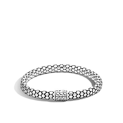 John Hardy Women's Dot Silver Small Chain Bracelet with Pusher Clasp Medium