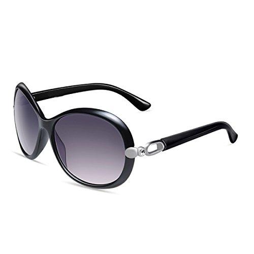 Gafas Polarizado Brown LQQAZY Sol Femenino De Marea Retro Grande De Gafas Sol Gafas Caja Conducción Black HxUXdU6