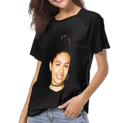 Womens T-Shirts Alessia-Cara Graphic O-Neck Short Sleeve Girl's Shirts Casual Workout Training Tee Shirt