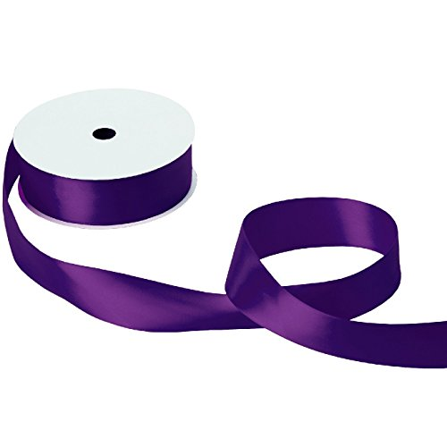 Jillson & Roberts Double-Faced Satin Ribbon, 1 1/2'' Wide x 50 Yards, Purple by Jillson Roberts