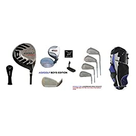 AGXGOLF Boys Right Hand Tour Eagle Combo Starter Golf Club Set w460cc Driver, Stand Bag & Free Putter; Tween or Teen Lengths Fast Shipping: Built in the U.S.A.