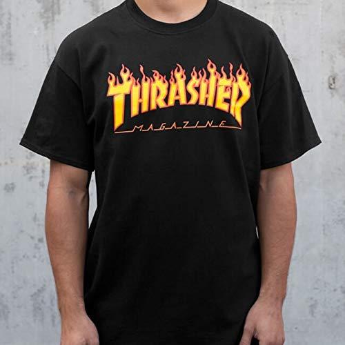 Thrasher Magazine Flame Black Men