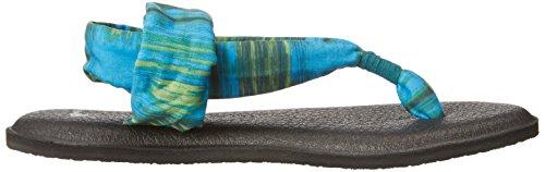 Sanuk Frauen Yoga Sling 2 Flip Flop Blau / Ikat