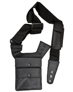 Black Leather Shoulder Holster Wallet Travel Wallet By Prime Hide Amazon Co Uk Garden Amp Outdoors