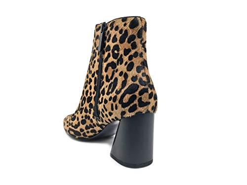 Leopardato 9 Stivaletto Kylie Kendall Brown Donna HALDLEE3 dwXIxqE