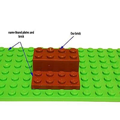 2x4 Brown Building Bricks: Pack of 180, Building Blocks Alternative Option to Leading Brand 2x4 Brown Brick (Brown): Toys & Games
