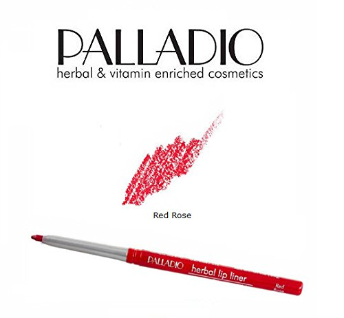 3 Pack Palladio Beauty Retractable Lip Liner 03 Red Rose