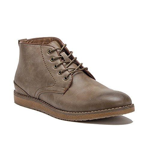 Mens D-508 Comfort Enkel Hoge Veterschoenen Chukka Desert Boots Taupe