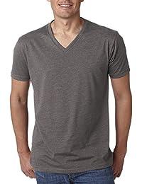 Next Level Mens 60% Cotton / 40% Polyester CVC V-Neck Tee - Stone Grey - L